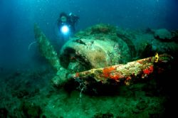 this B 24 bomber ex WW II is found in Togean Islands, Tom... by Iman Brotoseno 